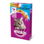 Сухой корм для кошек WHISKAS Вкусные подушечки с нежным паштетом, Аппетитный обед с лососем 350 грамм