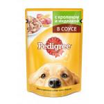 Влажный корм для взрослых собак всех пород PEDIGREE с кроликом и индейкой в соусе 100 грамм