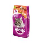 Сухой корм для кошек WHISKAS Вкусные подушечки с нежным паштетом, Аппетитное ассорти с говядиной и кроликом 1.9 кг