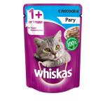 Влажный корм для кошек WHISKAS рагус лососем 85г