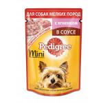 Влажный корм для взрослых собак мелких пород PEDIGREE с ягненком в соусе 85 грамм