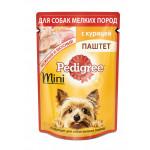 Влажный корм для взрослых собак маленьких пород PEDIGREE паштет с курицей 80 грамм