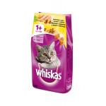 Сухой корм для кошек WHISKAS Вкусные подушечки с нежным паштетом, Аппетитное ассорти с курицей и индейкой 1.9 кг