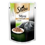 Влажный корм для взрослых кошек SHEBA Mini с уткой 50 грамм
