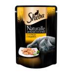 Влажный корм для взрослых кошек SHEBA Naturalle цельные кусочки. Курица и индейка 80 грамм