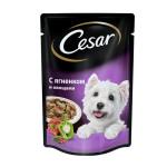 Влажный корм CESAR для взрослых собак ягненок с овощами 100 грамм