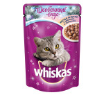 Влажный корм для кошек WHISKAS мясные рулетики с кроликом и телятиной 85 грамм