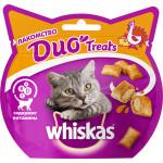 Лакомство для кошек подушечки WHISKAS Duo Treats с индейкой исыром 40 грамм