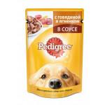 Влажный корм для взрослых собак всех пород PEDIGREE с говядиной и ягненком в соусе 100 грамм