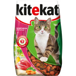 Сухой корм для кошек KITEKAT  с аппетитной телятинкой 800 грамм