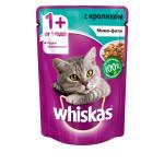 Влажный корм для кошек WHISKAS Мини-филе с кроликом 85 грамм