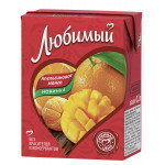 Напиток ЛЮБИМЫЙ Апельсин манго 0,2 л