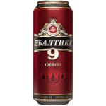 Пиво БАЛТИКА №9 крепкое в железной банке, 0,45л