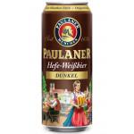 Пиво темное PAULANER Dunkel пшеничное железная банка, 0,5л