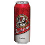 Пиво GAMBRINUS ORIGINAL, железная банка 0,5 л
