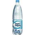 Вода минеральная BONAQUA столовая/питьевая негазированная, 1л