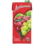 Сок ЛЮБИМЫЙ Яблоко и виноград, 0,95л