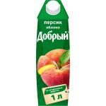 Нектар ДОБРЫЙ Персик-яблоко, 1л