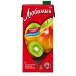 Напиток сокосодержащий ЛЮБИМЫЙ яблоко-банан-груша-киви, 0,95 л