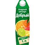 Нектар ДОБРЫЙ Бодрый цитрус, 1л
