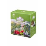 Чай AHMAD зеленый клубничный мусс пакетированный, 20х1,8г