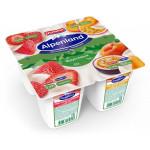 Йогуртовый продукт EHRMANN Alpenland Альпийский вкус клубника персик и маракуйя, 4х95г