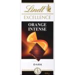 Шоколад LINDT EXCELLENCE Горький с кусочками апельсина и миндаля, 100г