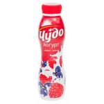 Йогурт питьевой ЧУДО черника малина 2,4%, 270 г