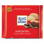 Шоколад RITTER SPORTгорький с марципаном, 100 г