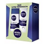 Подарочный набор NIVEA пена для бритья + лосьон после бритья для чувствительной кожи