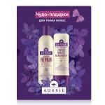 Подарочный набор AUSSIE MIRACLE шампунь и реконструктор для волос