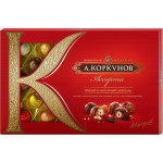 Конфеты А.КОРКУНОВ тёмный+молочный шоколад, 256 г