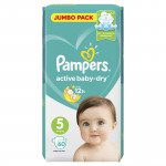 Подгузники PAMPERS Active Baby-Dry (11-16кг) Jumbo pack, 60шт