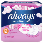 Прокладки ALWAYS Ultra Normal Plus Sensitive, 10шт