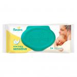 Салфетки PAMPERS New Baby Sensitive влажные, 54 шт