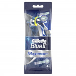 Бритвы одноразовые BLUE II Maximum, 4шт