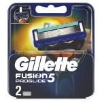 Сменные кассеты для бритья GILLETTE fusion proglide, 2шт