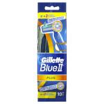 Бритвы одноразовые GILLETTE Blue II Plus, 10шт