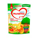 Каша пшеничная яблоко-персик МАЛЮТКА 220г