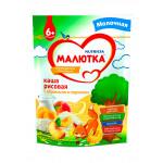 Каша молочная МАЛЮТКА Рисовая с абрикосом и персиком, 220г