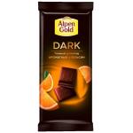 Шоколад ALPEN GOLD темный апельсин 85 г