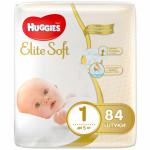 Трусики HUGGIES Elite Soft, 1 год (до 5кг), 84 шт.