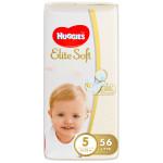 Подгузники HUGGIES Elite Soft, 5 (12-22кг), 56 шт.