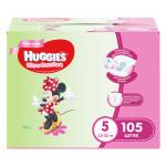 Подгузники для девочек HUGGIES Ultra Comfort 5 (12-22кг), 105 шт.