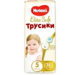 Трусики HUGGIES Elite Soft, 5 (12-17кг), 38 шт.