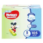 Подгузники для мальчиков HUGGIES Ultra Comfort 5 (12-22кг), 105 шт.