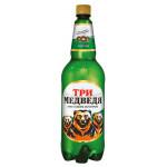 Пиво ТРИ МЕДВЕДЯ светлое пластик, 1,35 л