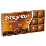 Шоколад молочный  с начинкой шоколадный крем брауни с кусочками печенья и карамели SCHOGETTEN, 100 г