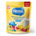 Nestlé® Молочная мультизлаковая каша с бананом и кусочками земляники (с 8 мес.), 220г