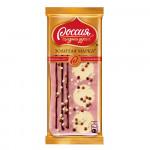 «РОССИЯ» - ЩЕДРАЯ ДУША!® ЗОЛОТАЯ МАРКА® ДУЭТ В КЛУБНИЧНОМ. Белый шоколад с клубникой декорированный 85 г